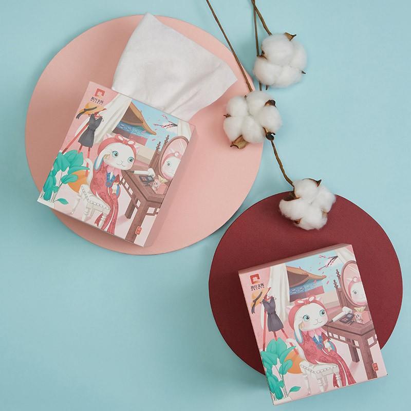 【故宫文创】全棉干湿两用洗脸巾4盒装  白色 GGMRJ-060