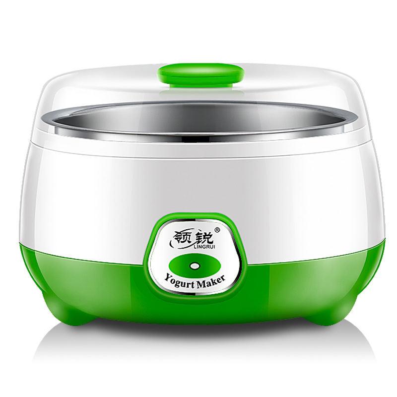 领锐家用全自动酸奶机恒温发酵迷你不锈钢内胆分杯米酒纳豆机  PA-12D