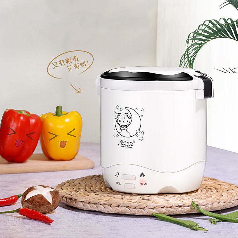 保温电热饭盒双层加热饭盒热饭器插电加热饭盒蒸饭器迷你电饭煲  XB-RC06