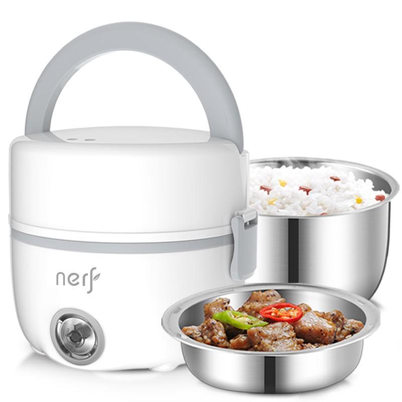 【拉尔弗】NERF 电热饭盒保温饭盒电蒸锅可插电保温热饭神器自动加热蒸煮器便携 MD-838/MD-858