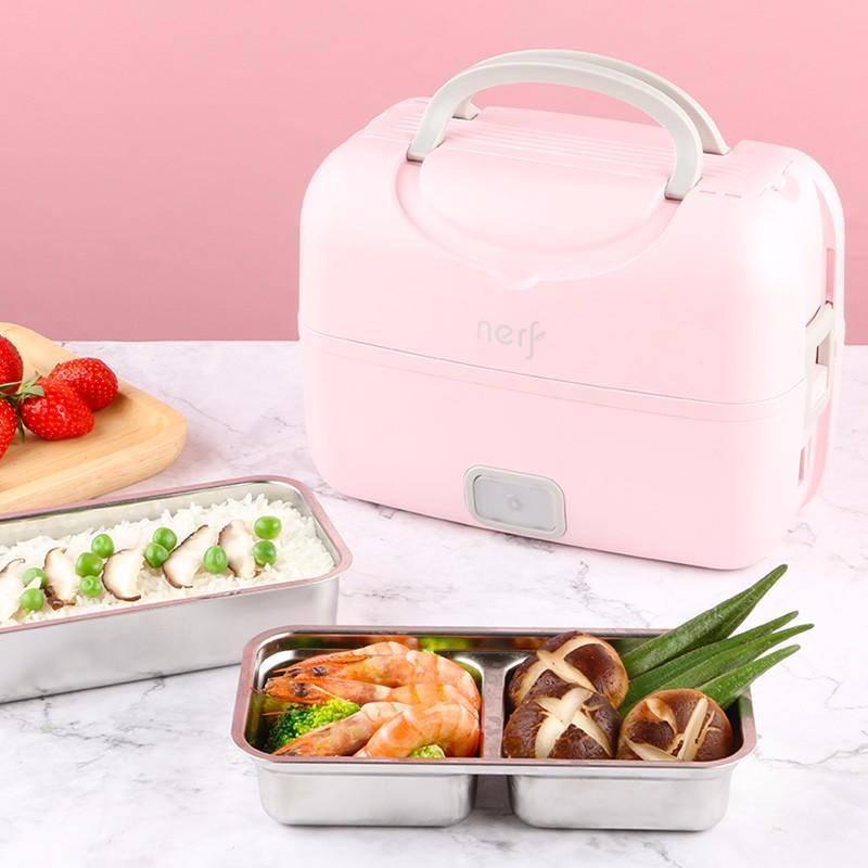 【拉尔弗】蒸汽加热保鲜饭盒插电办公室便携迷你电热自热饭盒MD-666