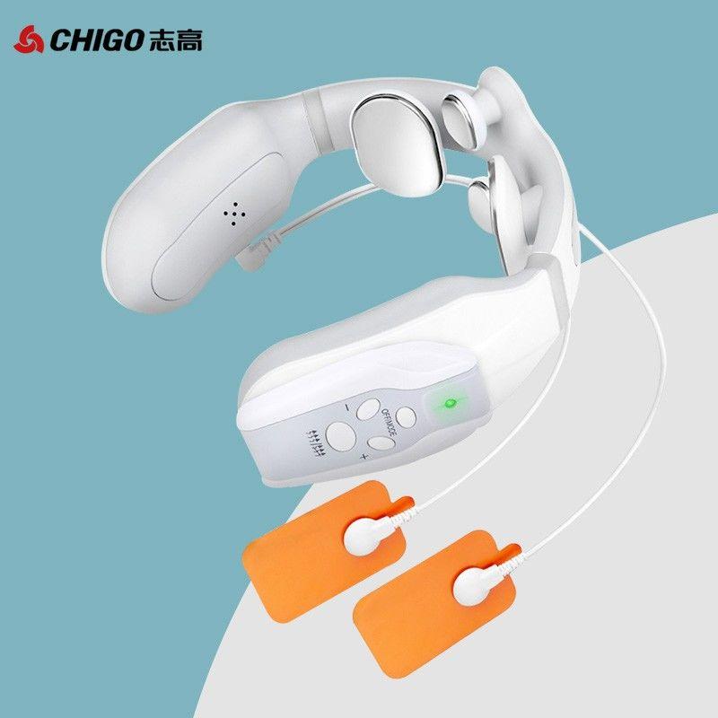 【志高】颈椎按摩器 肩颈按摩仪 办公室护颈仪 热敷U型枕 充电便携按摩器  ZG-MA59