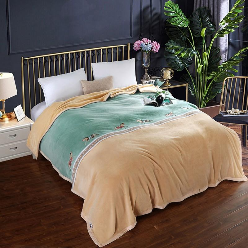 【花花公子】 芙晴暖阳被套毯 午睡毯牛奶绒毛巾被盖毯冬季床单 PB18-092