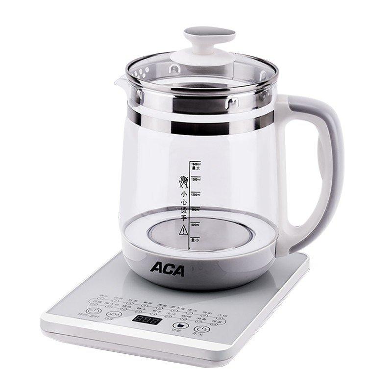 【北美电器】(ACA)养生壶 304不锈钢发热盘高硼硅玻璃耐高温电水壶 ALY-YS180D