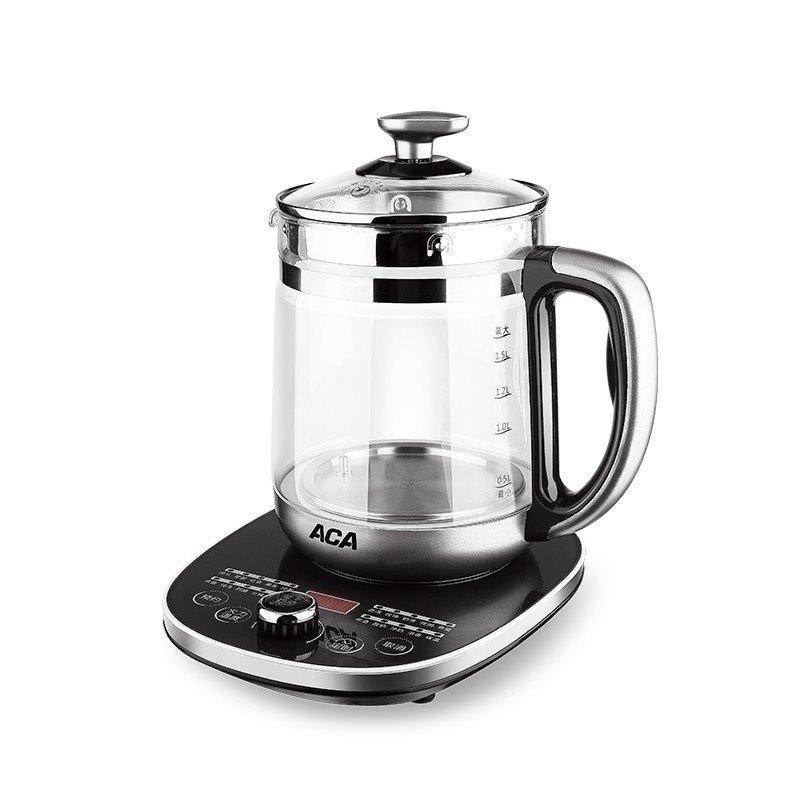 【北美电器】(ACA) 养生壶 高硼硅玻璃壶身家用电水壶电热水壶 ALY-YS181D