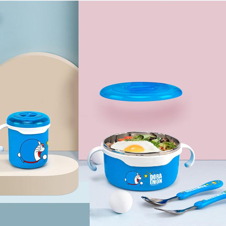 【哆啦A梦】餐具四件套学生住宿食具套装碗杯组合DM-2643