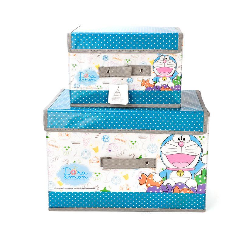 【哆啦A梦】收纳箱无纺布收纳两件套 可折叠收纳箱DM-4525