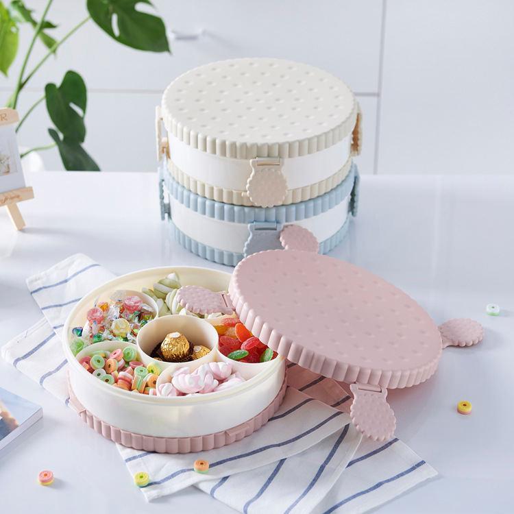 分格果盒果盘 糖果收纳盒客厅塑料组合干果瓜子水果盘