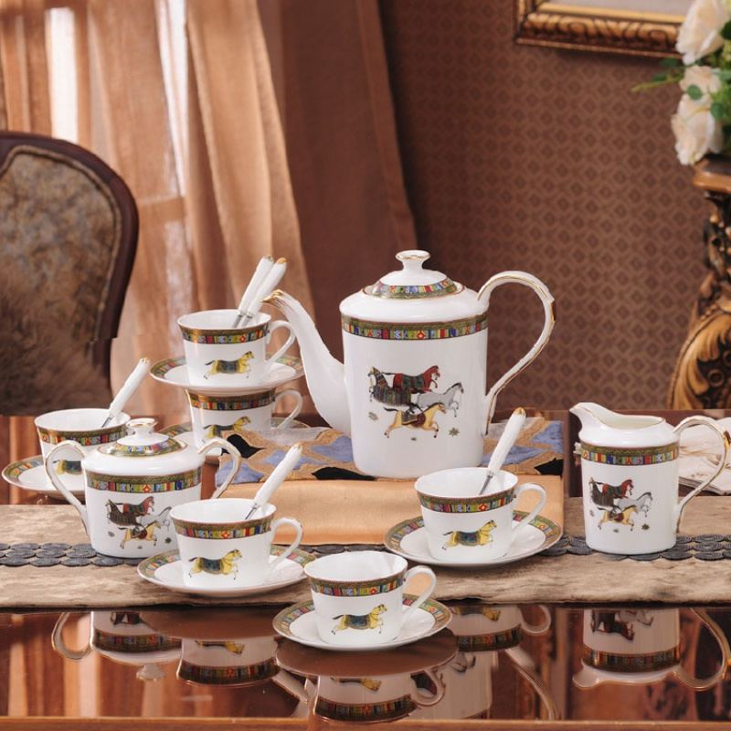 【盛世唐韵】欧式轻奢骨瓷陶瓷咖啡杯套装套具TY-0322