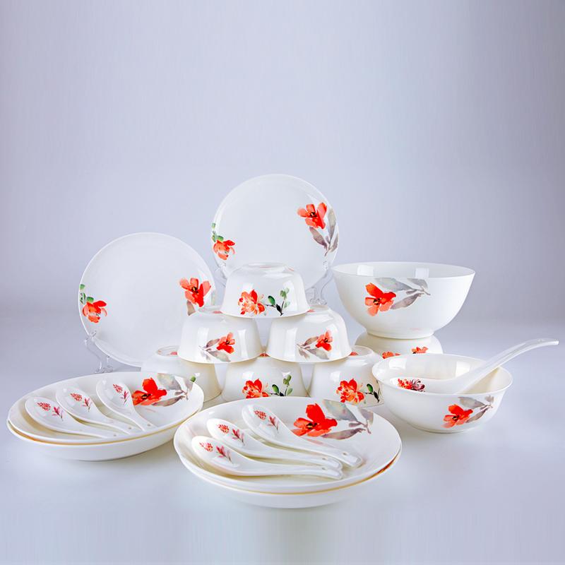 【盛世唐韵】骨质瓷餐具套装爱的箴言碗盘组合TY-0022