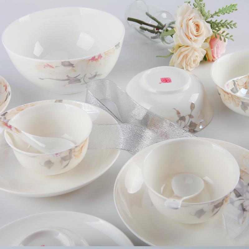 【盛世唐韵】骨质瓷餐具套装浪漫之旅碗盘组合TY-0022