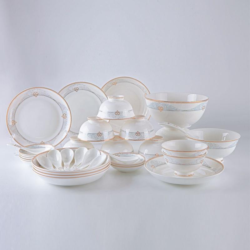 【盛世唐韵】骨质瓷餐具套装天涯共此时碗盘组合TY-0052