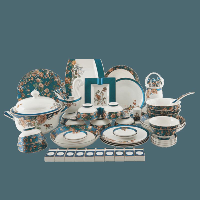 【盛世唐韵】骨质瓷餐具套装绿野仙踪碗盘组合TY-0062