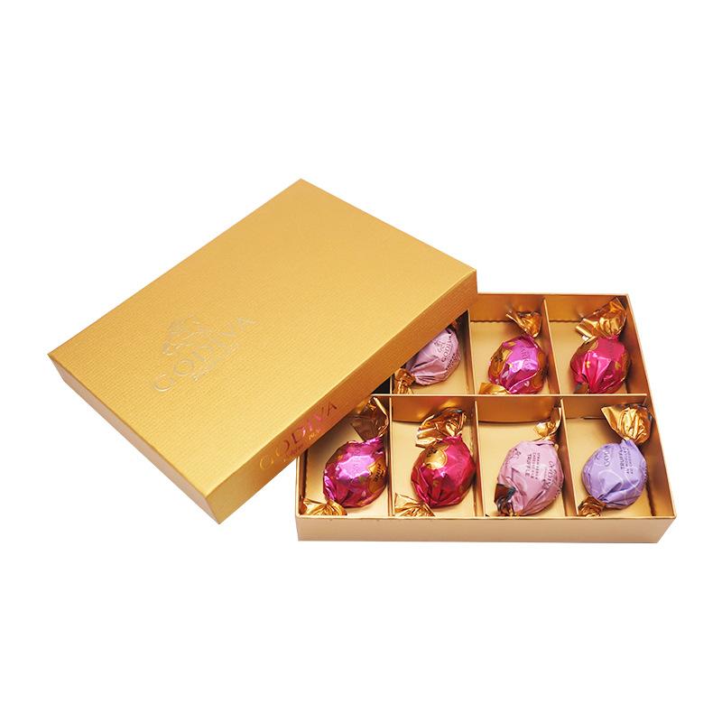 【歌帝梵】godiva金喜立方8颗装比利时进口巧克力休闲零食