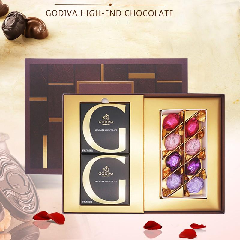 【歌帝梵】经典尊享心意巧克力礼盒10颗休闲零食