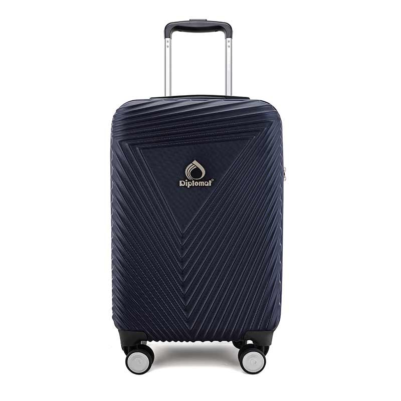 【外交官】拉杆箱 360°旋转飞机轮行李箱旅行箱深蓝色 DS-13038