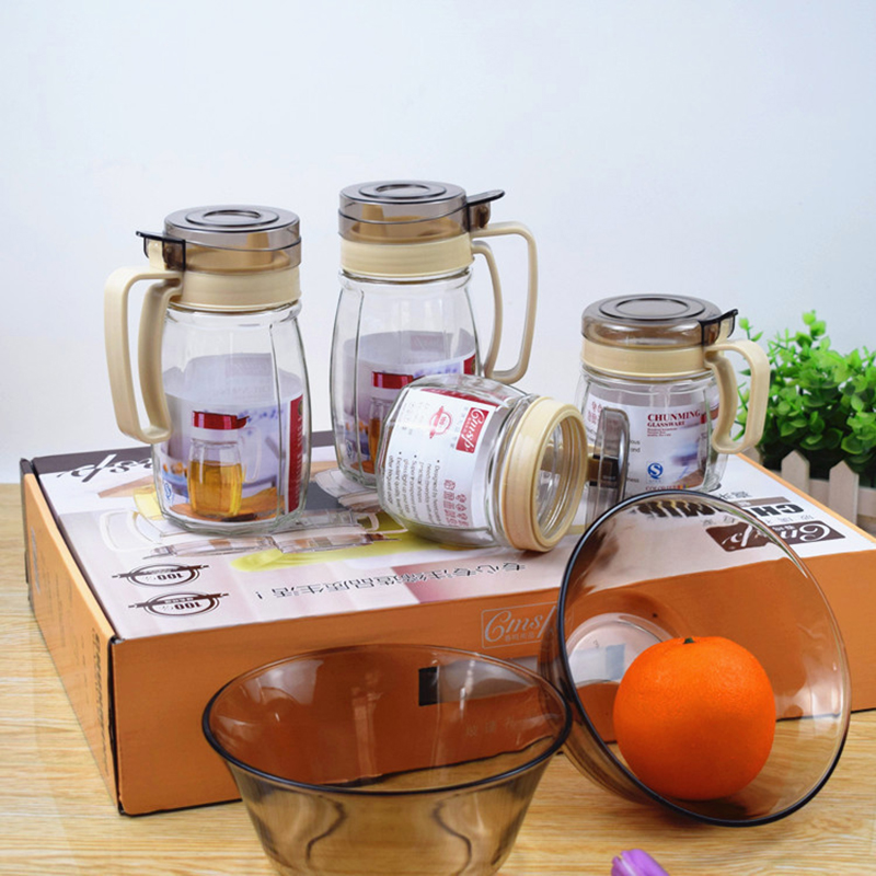 康乐雅厨六件套玻璃碗油壶调味罐