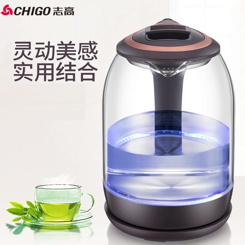 【志高】玻璃电水壶电热水壶烧水壶1.8L大容量高硼硅玻璃水壶ZD-1818