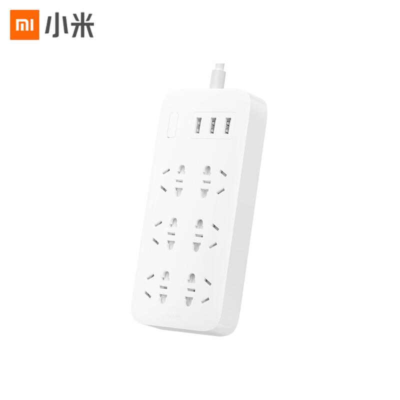 【小米】米家6孔位插线板USB插座插排拖线板插板