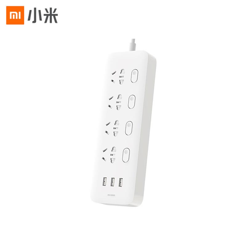 【小米】米家四位四控插线板USB插座排插拖线板插板接线板