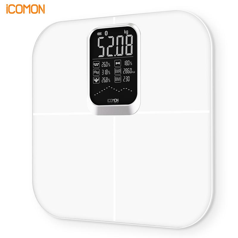 【沃莱】(ICOMON) 智能体脂秤体重秤体脂称家用精准电子秤FI320LB-G