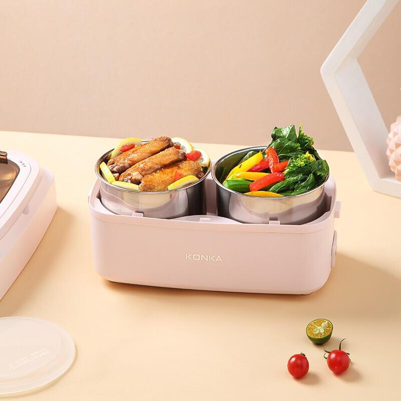 【康佳】 电热饭盒蒸煮饭盒易清洁耐高温KGZZ-2185
