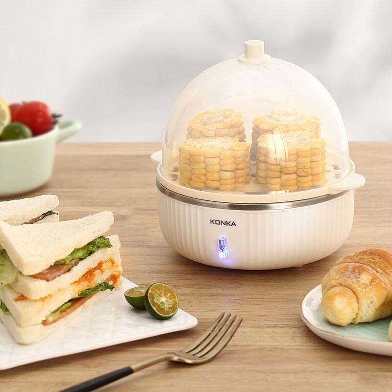 【康佳】煮蛋器蒸蛋器单层家用迷你早餐机蒸鸡蛋器KGZZ-1213