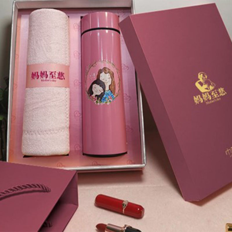 母亲节礼品抗螨乳胶毛巾智能杯套装