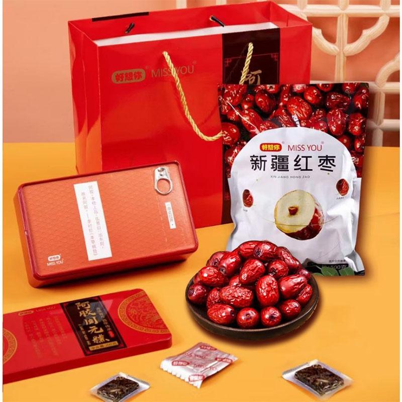 母亲节礼品阿胶固元糕新疆红枣套装