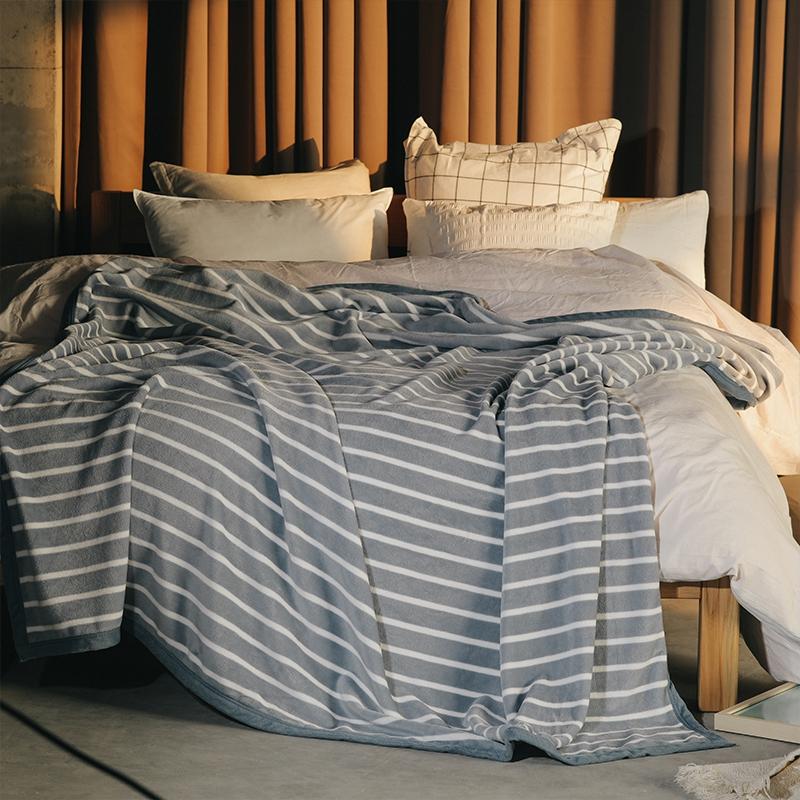 【梦洁】云锦丝绒毯-条韵家用毛毯毯子空调毯1159900898