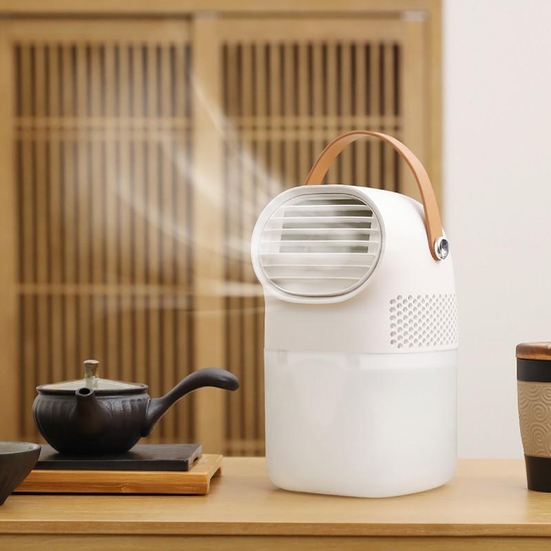【米贝丽】空气水冷风扇无叶小风扇迷你空调扇F3
