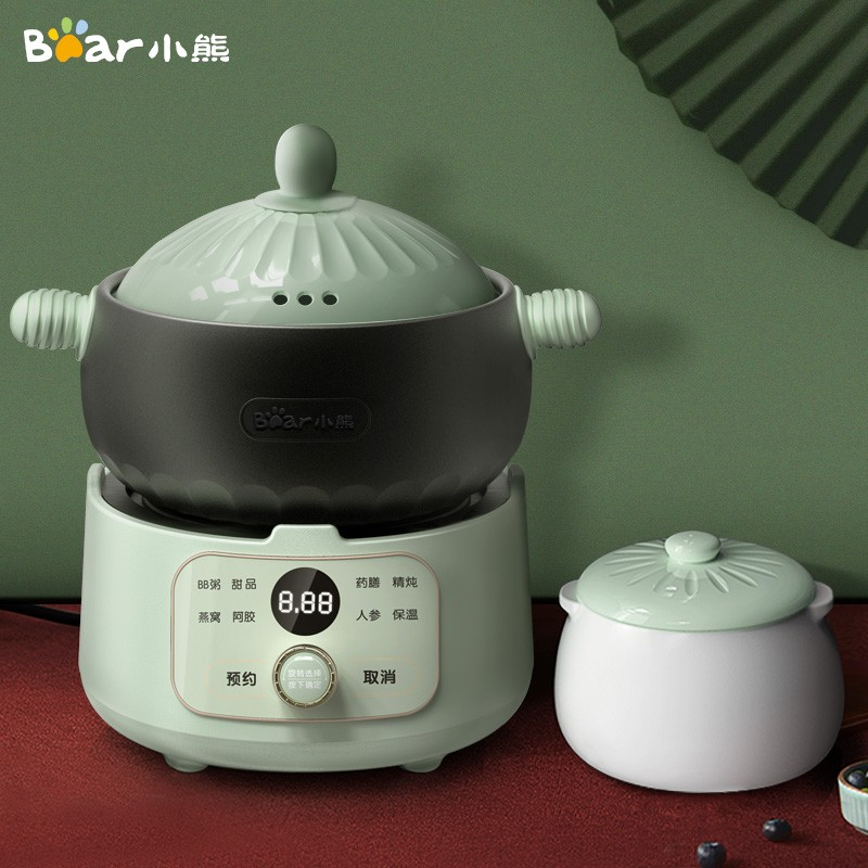 【小熊】(Bear)电砂锅 电炖锅0.8L燕窝隔水炖盅煲汤锅煮粥炖汤锅DSG-B15H1