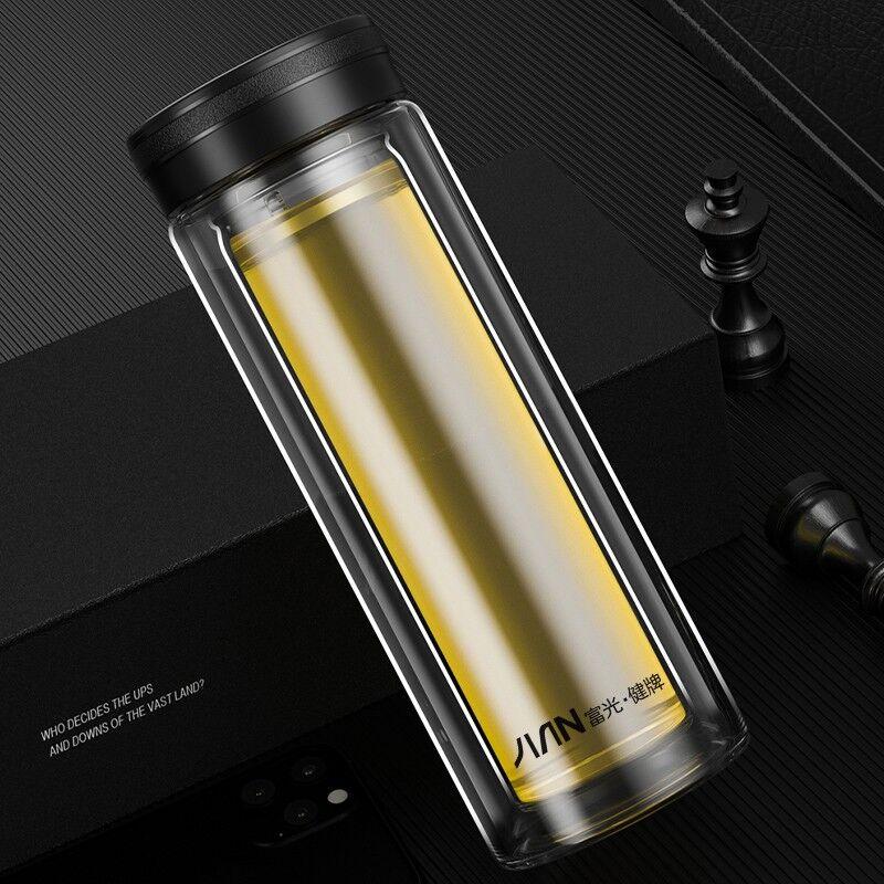 【富光】玻璃杯双层大容量喝水杯子车载便携泡茶杯X1908-SP-320/380/500