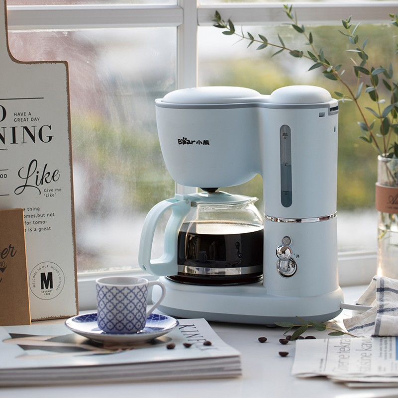 【小熊】咖啡机美式家用 0.6L全自动滴漏式小型泡茶煮咖啡壶KFJ-A06K1