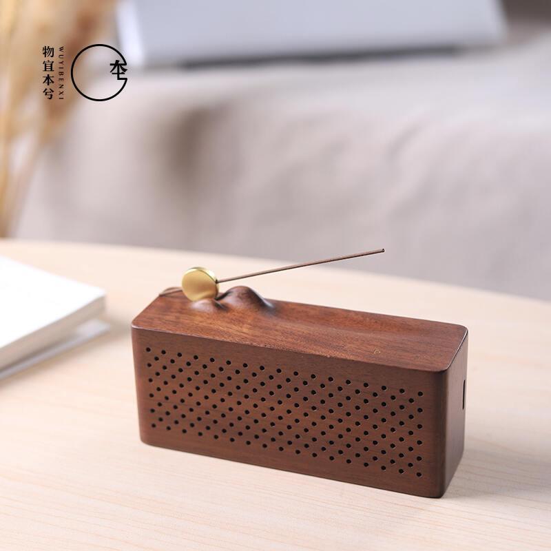 【物宜本兮】烟月蓝牙品香播放器古典禅音香炉香插音乐机摆件