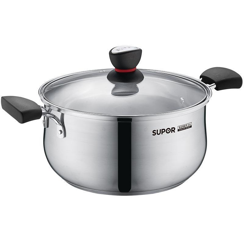 【苏泊尔】小红圈304不锈钢复底汤锅奶锅煮面锅ST22H1