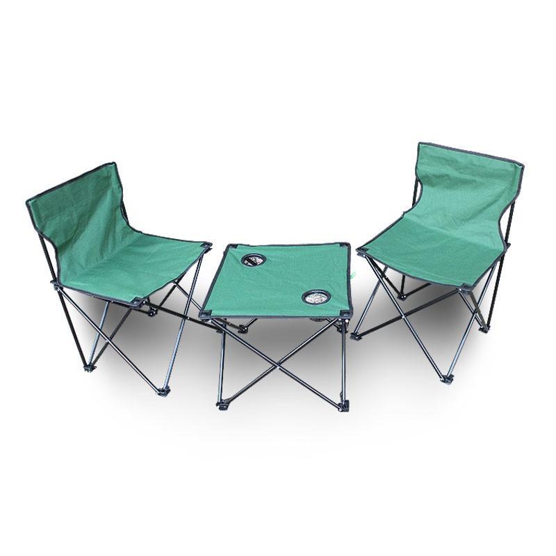 【何大屋】 户外折叠桌椅套装便携式野餐桌椅组合悠然户外套装HDW1508