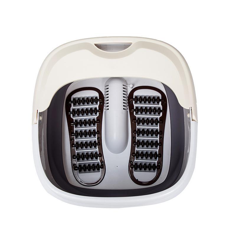 【英久】折叠足浴盆滚轮按摩洗脚盆电动加热恒温加热泡脚桶ZD5.0L-V26