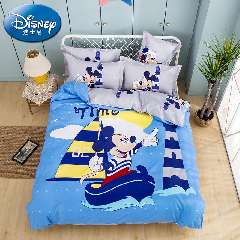 【迪士尼】欢乐童年亲肤棉四件套夏天亲肤卡通被套床单DJM01-2023C/DJM02-2023C