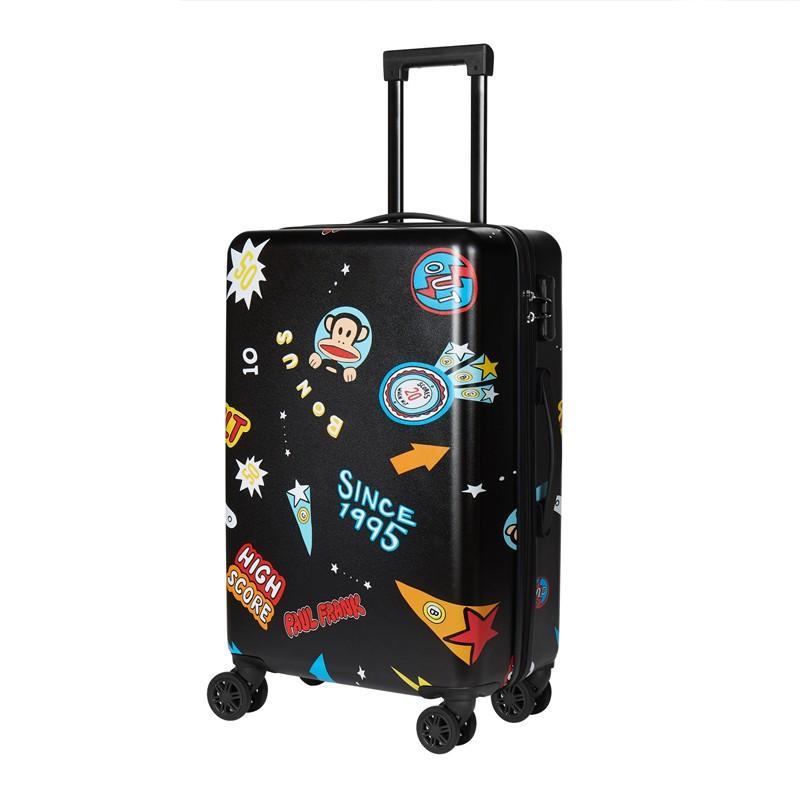 【大嘴猴】(Paul Frank)黑色行李箱拉杆箱磨砂纹路精选耐磨板材PFL035A