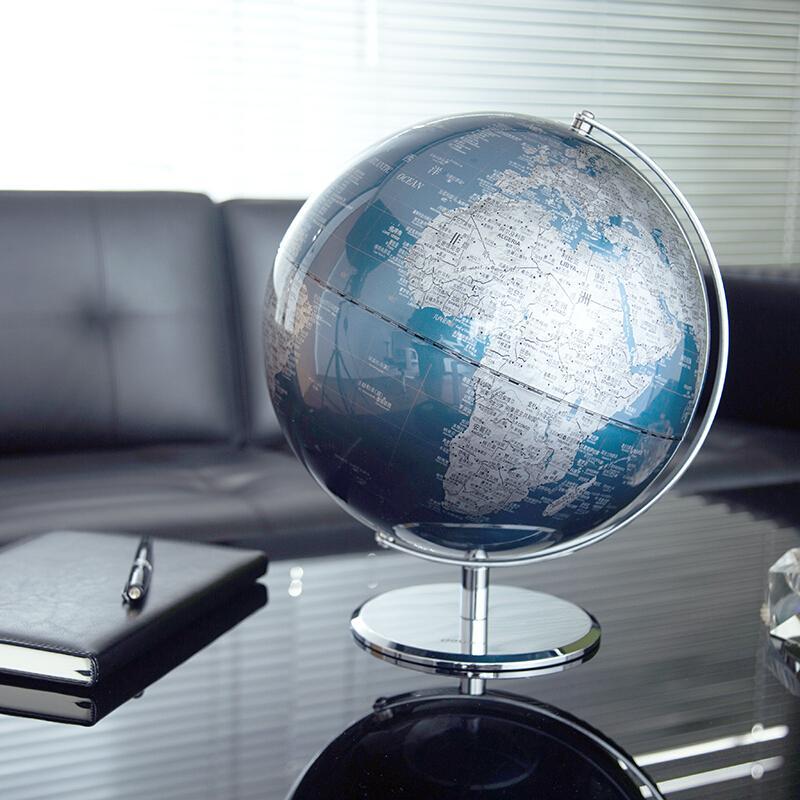 【得力】高档世界地球仪摆件商务礼品居家摆设2162