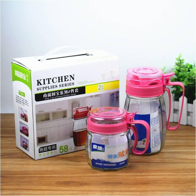 南瓜厨宝玻璃油壶六件套调味罐家用调料盒盐罐