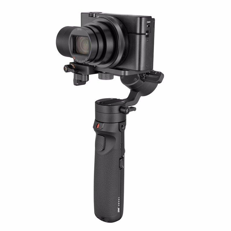 【智云】云鹤M2卡片机手持稳定器微单相机手机运动相机三轴防抖Vlog直播拍摄手持云台CR106