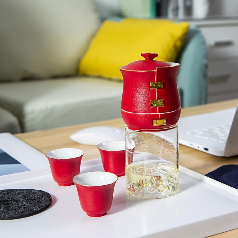 【古时候】瓷器扭转乾坤系列自动茶具玻璃透明公道杯G102