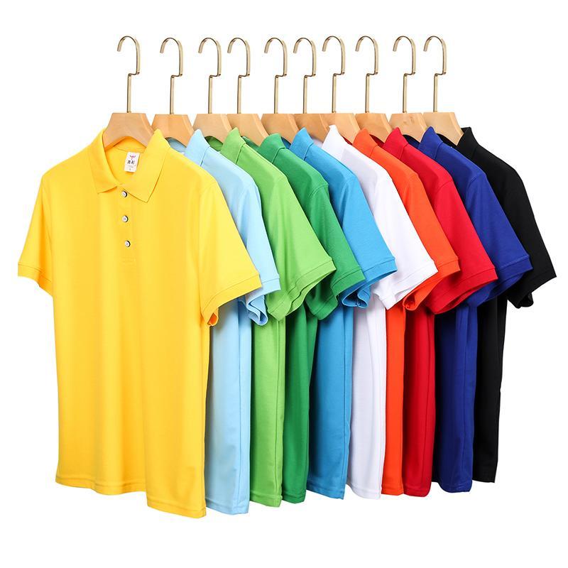 纯色短袖翻领T恤POLO衫工作衣服广告衫文化衫HM-0117