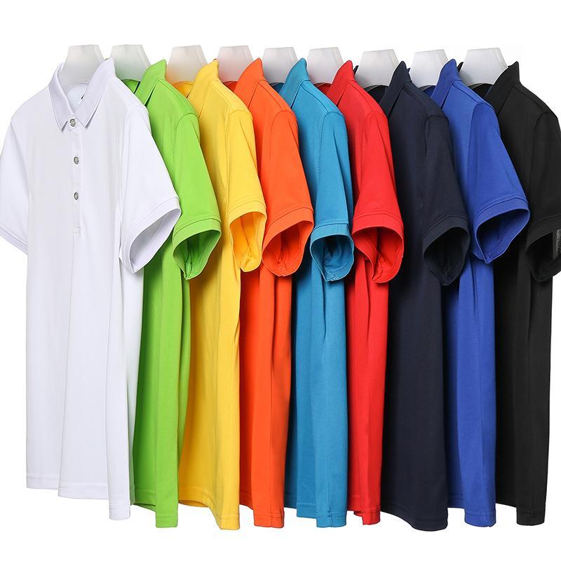 小领竹纤维纯色短袖翻领T恤POLO衫工作衣服广告衫HM-0118