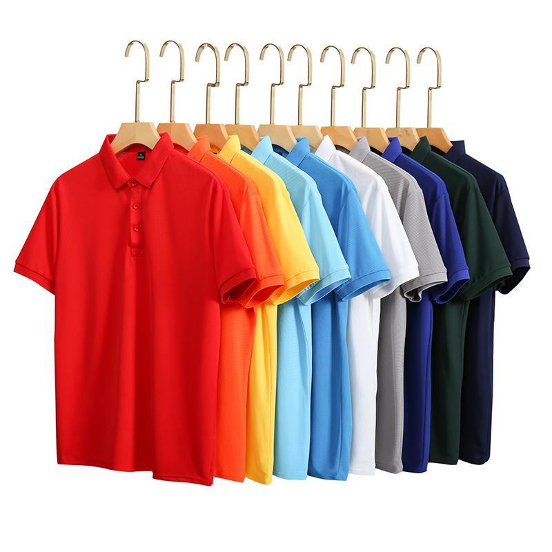 纳米速干纯色速干拼色短袖翻领T恤POLO衫广告衫HM-0123/HM-0124
