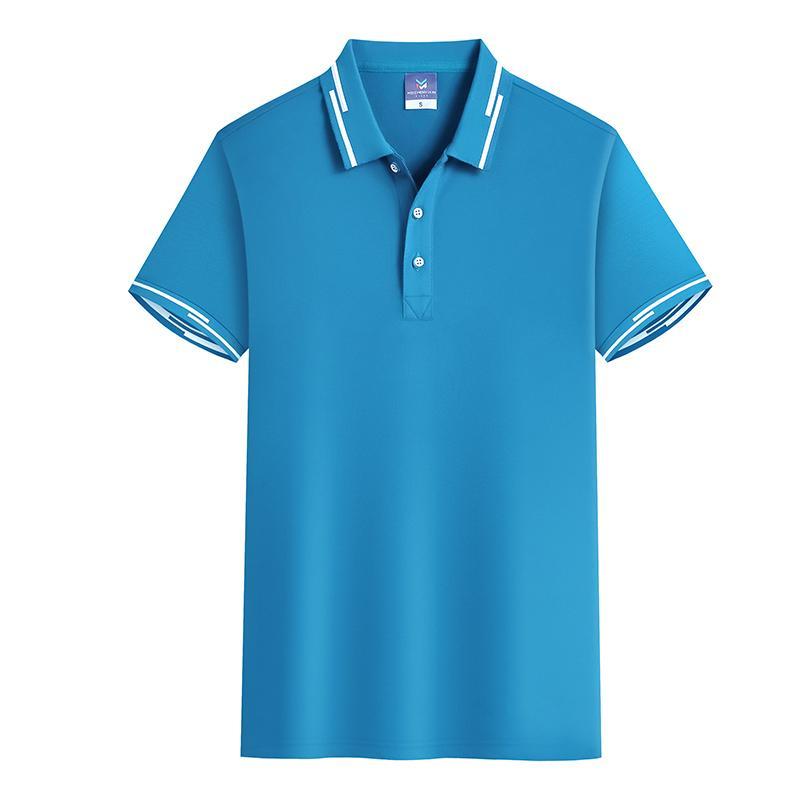 断桥翻领短袖T恤POLO衫工作衣服广告衫HM-0125