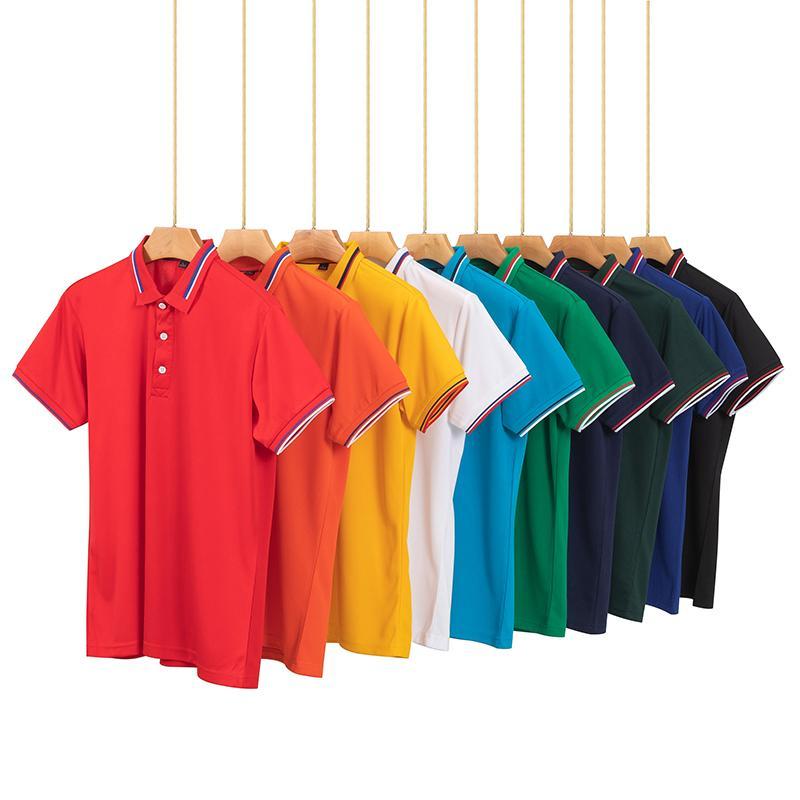 经典间色领翻领T恤POLO衫工作衣服广告衫HM-4002