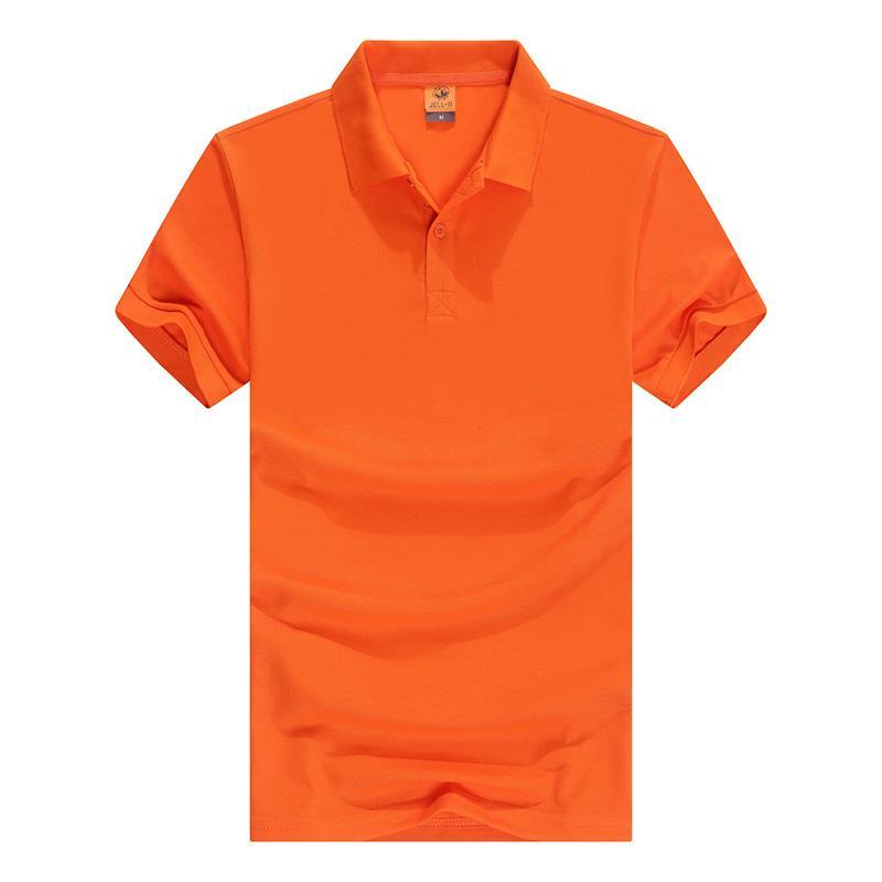 纯色翻领短袖T恤POLO衫工作衣服定广告衫文化衫HM-2060JE